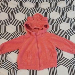 Zara Coral Hoodie Jacket